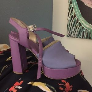 Urban Outfitters purple platform heels size 8